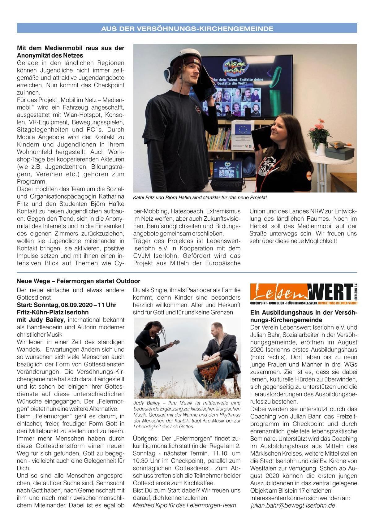 2020 08 Newsletter August/September