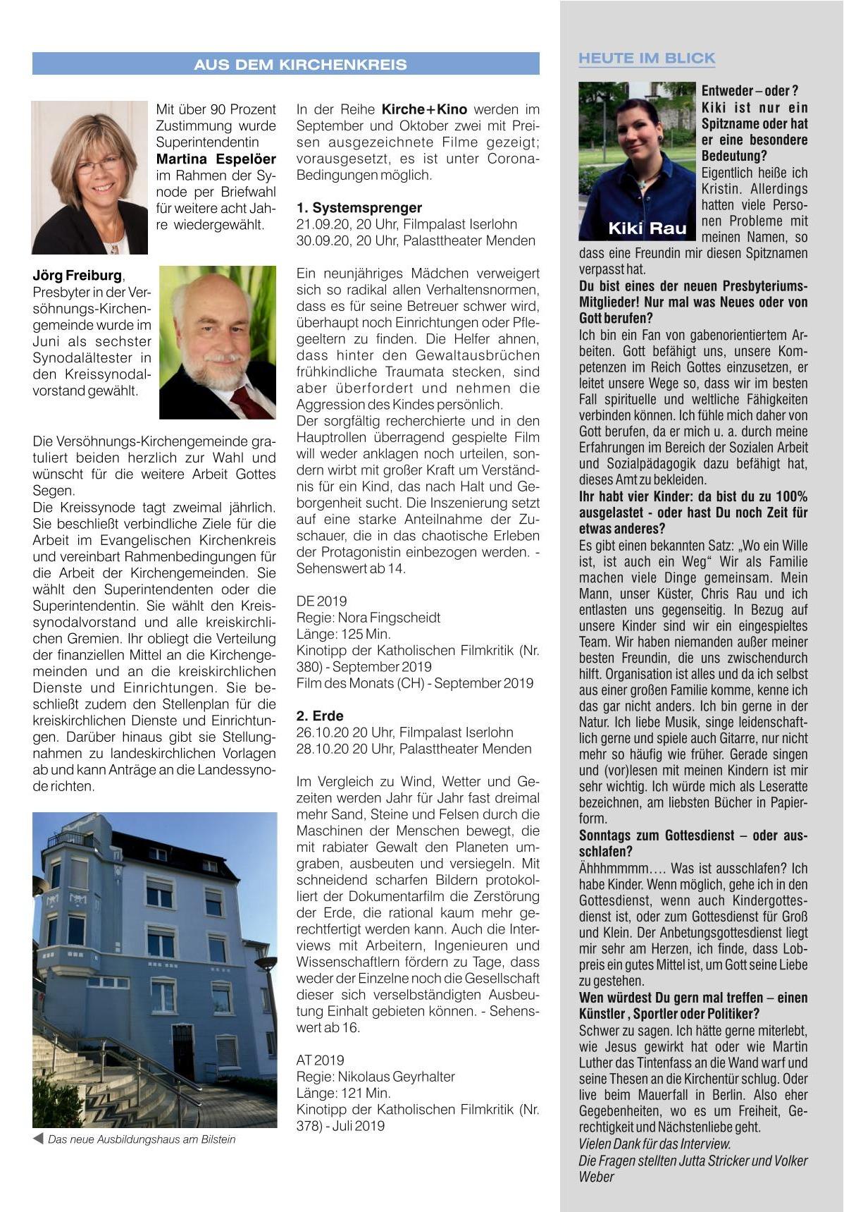 2020 08 Versöhnungsnews August/September